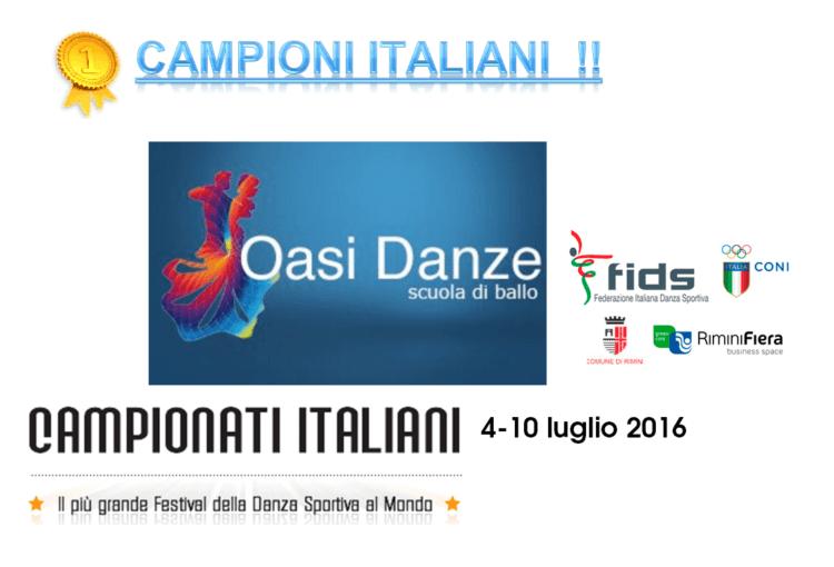 Campionati Italiani Oasi Danze